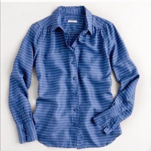 J. Crew Blythe Blouse Silk Button Down Shirt